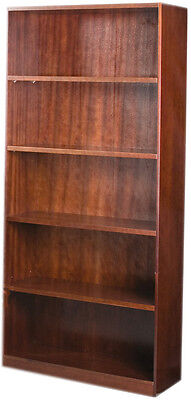Office Timber Veneer 2000H Bookcase  - Redwood