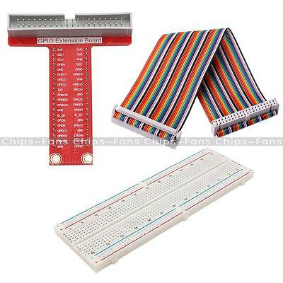 T Type GPIO Extension Board Raspberry Pi 2 B Kits Breadboard 40Pin Rainbow Cable