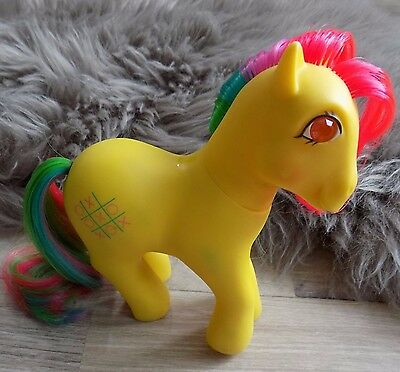 Rare Vintage MLP My Little Pony G1 Tic Tac Toe with Twinkle eye TE Yellow 1987