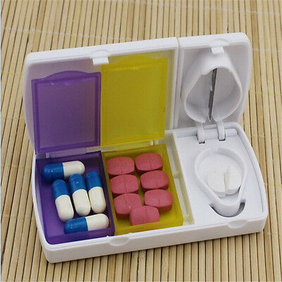 Smart Pill Case Splitters Plastic Medicine Organizer Storage Box Tablet Cutter