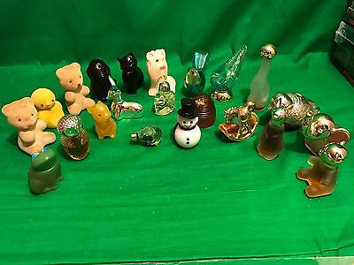 Lot of 21 Vintage Avon Mini Perfumes Cologne Collectible Decorative Bottles