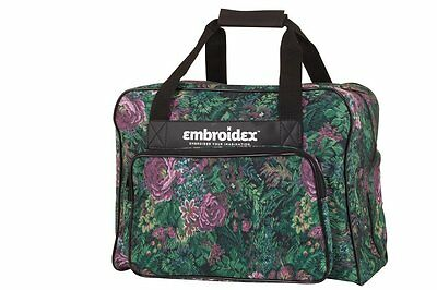 Floral Sewing Machine Carrying Case - Carry Tote Universal