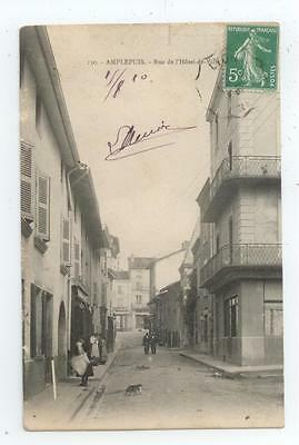 Cpa 1910 Rhone Amplepuis Anime Rue Hotel De Ville Be