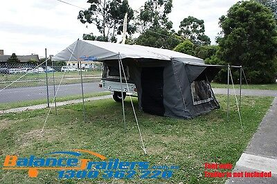 Camper Trailer Top Tent with Ripstop Canvas Outdoor Camping Tent