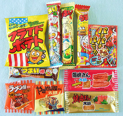 Japanese Dagashi Trial Set 10pcs Assorted Candy Snack Japanese Food New