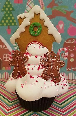 Gingerbread House Boys Fake Cupcake Photo Props, Holiday / Christmas Accents