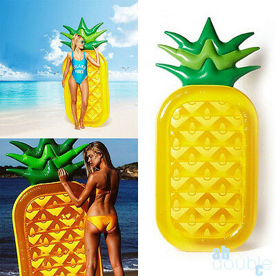 Inflatable Giant Pineapple Shape Swimming Pool Air Tube Water Float Swim Ring