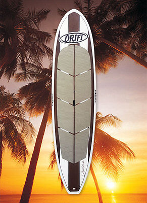 Stand Up Paddle Board package - oak finish SUP + bag + leash + adjustable paddle