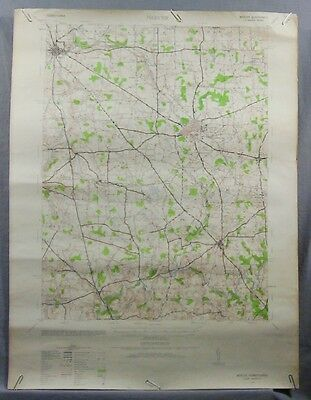 """1939 ANTIQUE Mercer, PA 15' USGS Topographic Map 17"""" x 22"""""""