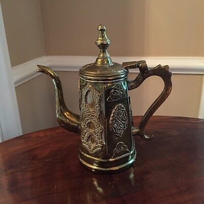 Vinatage Brass Coffee Pot from Marocco