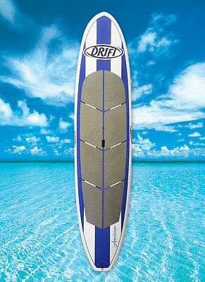 """SUP Stand Up Paddle Board + bag + leash + paddle package -10'6"""" fibreglass blue"""
