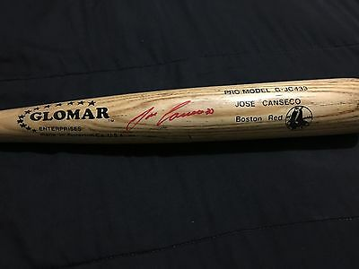 Jose Canseco Game Used Bat Uncracked Signed Glomar Boston Red Sox MLB Rare!