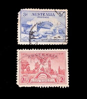 Old Australia Stamps! 131 & 159! used, faults