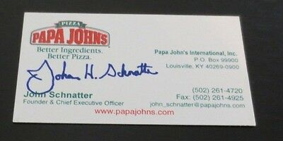 John Schnatter Founder Ceo Papa Johns Pizza Signed Autographed