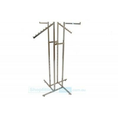 4 Way Rack With 2 Straight and 2 Waterfall arms Garment Clothes Clothing Rail