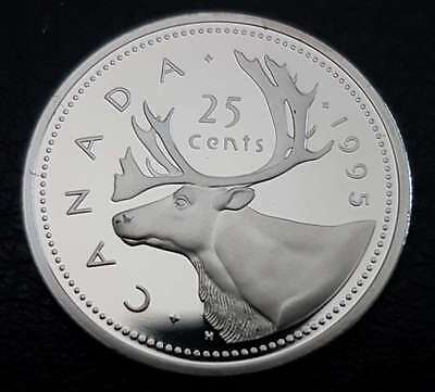 1995 25 Cent Canada Proof - Heavy Cameo - From Mint Set