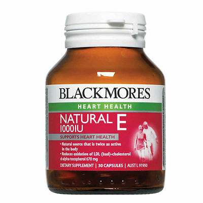 Blackmores Natural Vitamin E 1000Iu 30 Capsules