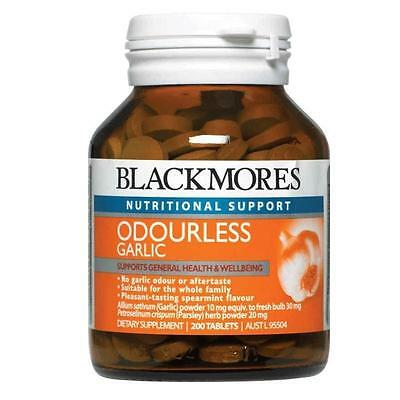 Blackmores Garlic Odourless 200 Tablets