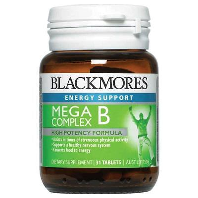 Blackmores Mega B Complex 31 Tablets