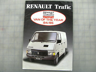 1984/5 Renault Trafic Van Brochure, Sales Literature Old Dealer Collectors Item