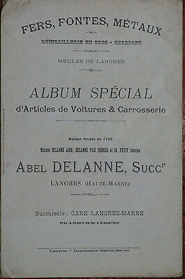 catalogue 1905 voiture et carrosserie Langres Delanne
