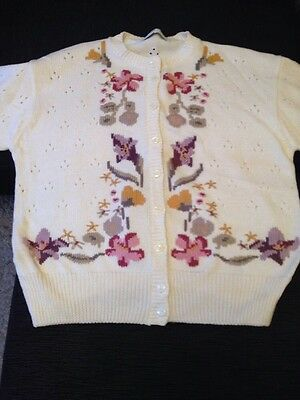 Marks And Spencer Cream Cardigan Size 14