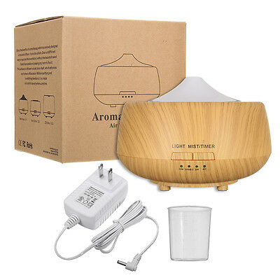 Ultrasonic Color-changing Wood Grain LED Aroma Diffuser Humidifier Aromatherapy