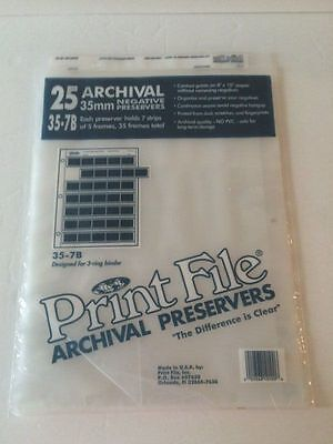 24 Archival 35mm Negative Preserver sleeves pages 35-7B for 3-ring binder