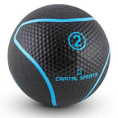 Medicine Ball Gym Exercise Strength Weights Cross-Training Workout 2 Kg Black