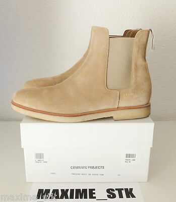 Common Projects Chelsea Boot In Suede Tan - Us6/uk5/eu39