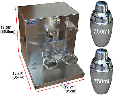 Double-cup Bubble Milk Tea Shaker All Stainless Steel Auto Shaking Machine