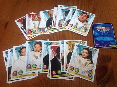 Doctor Who Alien Armies Trading Cards job lot of 30 different cards POST FREE UK