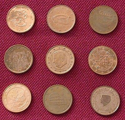 Various 5 cent Euro € coins In Various Condition