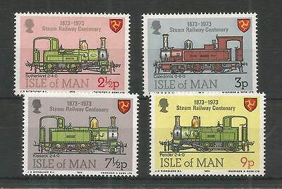 I.o.m 1973 Centenary Of Steam Railway Sg,35-38 Um/m N/h Lot R206