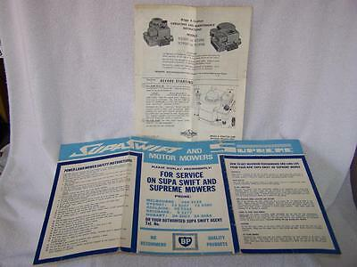 Briggs & Stratton and Supa Swift & Supreme motor mowers operating instructions