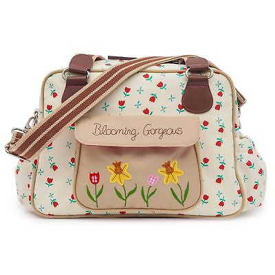 Pink Lining Blooming Gorgeous Tulipes et forget me nots Sac à langer