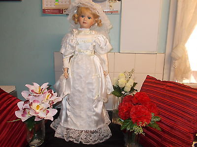 Unmarked 30Inch *martha* Fine Bisque Porcelain Collectors Limited Edition Doll.