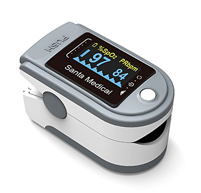 Fingertip Pulse Oximeter Oximetry Blood Oxygen Saturation Monitor with Lanyard