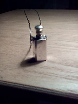 Antique Sterling Silver Perfume Bottle Necklace
