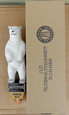 Alaskan Brewing Co White Ale Polar Bear Figural Beer Tap Handle New In Box 12 In