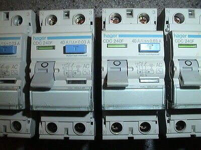 INTERRUPTEUR DIFFERENTIEL 40A 30mA TYPE AC, HAGER , 40 AMPERES REFERENCE 748F