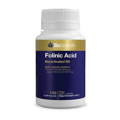 BioCeuticals Folinic Acid 120 Capsules For Anxiety Depression Brain Health