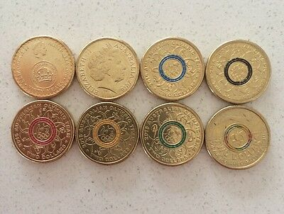 $2 - COMPLETE Set Of 2016 Commemorative / Coloured / Olympic Two Dollar Coins