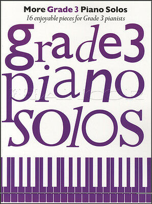 More Grade 3 Piano Solos Sheet Music Book 16 Enjoyable Pieces for Pianists