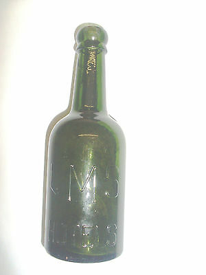L M S Railways Hotels Rare Embossed Lettered Old Style Beer Bottle - Nice Cond'n