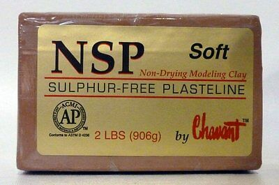 Chavant NSP SOFT - 2 Lbs. Professional Oil Based Sulfur Free Sculpting Clay
