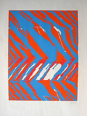 "Hermann Bayer (1936-2012) ""Abstrakt, orange-blau"""