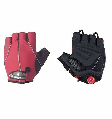 Chiba Road Team Bike Gel Padded Cycling Gloves / Mitts XXL Red ****