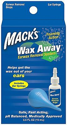 Mack's Wax Away® Earwax Removal System w/ Bulb Syringe