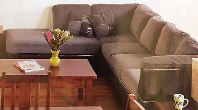 New Grey 5 Seater Lounge With Chaise In Unopened Packaging Excellent Quality